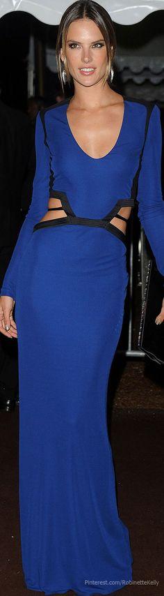 Alessandra Ambrosio, Roberto Cavalli   Cannes Film Festival Different color than blue......