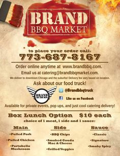 Brand BBQ food truck catering menu - page 2 of 2 - Chicago ...
