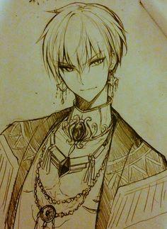 King Gilgamesh, Gilgamesh And Enkidu, Character Art, Character Design, Anime Drawings Sketches, Art Drawings, Fate Anime Series, Manga Characters, Cute Art