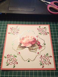 3D roos met stickerwerk