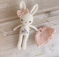 personalized crochet Amigurumi bunny girl with embroidered name and crochet dress, a newborn birth gift, newborn shower gift or photo propLovely amigurumi animal bunny girl with lovely dress, hand crochet soft cuddly toy, perfect soft cuddly toy for your Crochet Amigurumi, Crochet Bunny, Hand Crochet, Crochet Toys, Bunny Girls, Baby Bunnies, Gifts For Newborn Girl, Newborn Girls, Baby Newborn