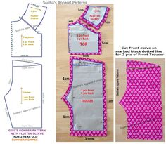 Sudha's Apparel Patterns: Flutter sleeve Romper - sewing tutorial & FREE pattern (PART-1)