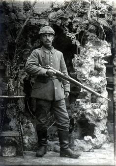 WWI, 15 April 1917; Infantryman, 69th Infanterie Brigade, La Bassée. ©Drake Goodman