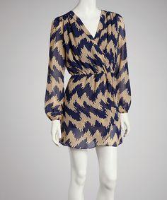 Look what I found on #zulily! Blue Zigzag Tulip Dress by Reborn Collection #zulilyfinds