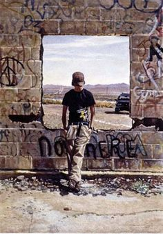 Original Painting, In The Middle Of Nowhere by Steve Hanks
