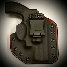 Smith and Wesson Bodyguard with Crimson Trace Laser in a Leatherback Hybrid Holster from WW Tactical Systems. wwtacticalsystems.com