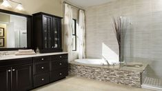Beautiful bathroom at Brentwood model - The Retreat At Carrollwood - Tampa Standard Pacific Homes Bathroom Goals, Bathroom Inspo, Master Bathroom, Bathroom Ideas, Tampa Homes For Sale, New Homes For Sale, Dream Bathrooms, Beautiful Bathrooms, Standard Pacific Homes