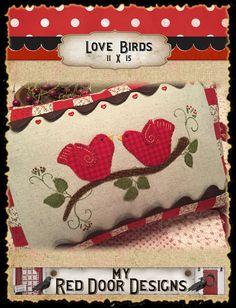 Love Birds pillow pattern
