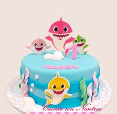 2 Year Old Birthday Cake, Baby Boy Birthday Themes, Shark Birthday Cakes, 2nd Birthday Party For Girl, Prince Birthday Party, First Birthday Cakes, Shark Cake, Smash Cake Girl, Paw Patrol Cake