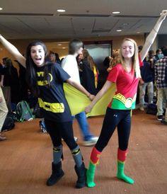 Best friend halloween costumes, batman and robin Last minute costumes for teen girls