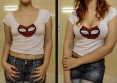 Get Great Cleavage In Minutes - Simple Hack! - DIY tricks will make small boobs look bigger and sexy in that low-cut outfit! This would be great for costumes and outfits that need your boobs to have a little extra! Cosplay Tutorial, Cosplay Diy, Halloween Cosplay, Cosplay Costumes, Halloween Costumes, Cosplay Ideas, Cosplay Outfits, Costume Makeup, Halloween Makeup