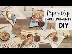 Very easy, fun and cute paper clips embellishments. Thank you so much for watching! Paper Clip Art, Glue Book, Cute Crafts, Diy Crafts, Candy Cards, Scrapbook Journal, Scrapbook Embellishments, Card Tags, Scrapbooking Layouts