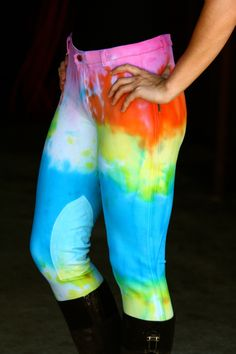 Ranch Dress'n - TIE DYE BREECHES, $65.00 (http://ranchdressn.com/tie-dye-breeches/)