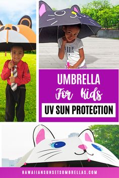 Finally, your precious little ones can have fun in the sun or the rain while also protecting their skin with these cute umbrellas for kids! UPF50 Sun protection helps keep your little ones cool when it is sunny & hot. Pongee fabric is more Eco-Friendly than the commonly used/cheap polyester used in most umbrellas. UV Umbrellas for Kids and women! #kids umbrella #umbrella photography #umbrellakids #kids photography #girlsumbrella #boysumbrella #umbrella kids #uvumbrella #uvprotection