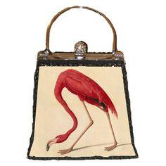 Chinoiserie Chic: Pink Flamingos - Pink Flamingo Handbag