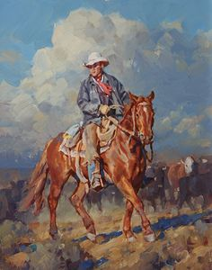 """The Sorrel Colt"" by Jason Rich (Cowboy Artist)"