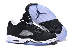 "bc8d52b1ab05 Cheap Price Nike Air Jordan 5 Low Black ""Oreo"""