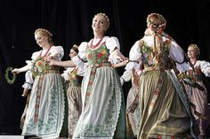 "lamus-dworski: Examples of various Polish folk dresses from the repertoire of the ""Mazowsze"" Song and Dance Ensemble."