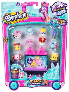 Shopkins World Vacation Europe 12 Pack Gifts Season