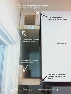 Over the fridge Ikea cabinet: how to make it the same depth as the refrigerator.