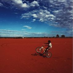 Photographer Michael W. Wilson (@michaelwwilson) captures wheelies in the desert of #Punmu Western Australia. // #WesternAustralia #aboriginal #desertlandscape #westernaustralia #australia
