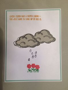 Silver Linings card using Sprinkles of Life stamp set and Tree Builder punch