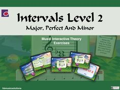 Intervals In Music - Level 1 Interactive Theory Activity. Music Theory, Music Lessons, Teaching Resources, Student, Exercise, Activities, Play, Reading, Ejercicio