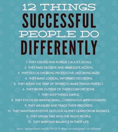 successful Woman things do differenty | ... things personally and professionally. So, what things do successful