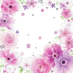 Forget me not Flower Backgrounds, Flower Wallpaper, Wallpaper Backgrounds, Wallpapers, Flower Frame, Flower Art, Scrapbook Paper, Scrapbooking, Background Clipart