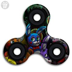 Five Nights At Freddy's Tri-Spinner Fidget Toy Hand Spinner High Speed Metal Bearing Stress Reducer Relief Toys Perfect For ADHD EDC ADD Anxiety Autism And Boredom - Fidget spinner (*Amazon Partner-Link)