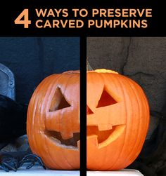 Keep jack-o-lanterns from rotting with these easy preservation hacks!