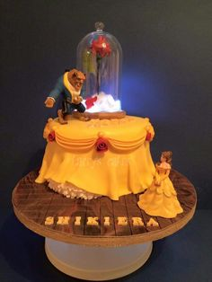 Beauty and the beast cake belle's dress