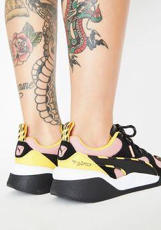 PUMA X Sue Tsai Cali Peonies Camo Sneakers | Dolls Kill