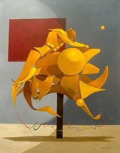 Los toros en el Surrealismo Geométrico Fiesta óleo sobre tela 120 X 150 cm. Respecto a estas pinturas, se puede ver clarame...