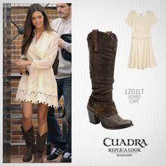 La temperatura sigue subiendo, pero no es impedimento para llevar tus botas #CUADRA ¡Replica el look de Sara Carbonero! #Boots