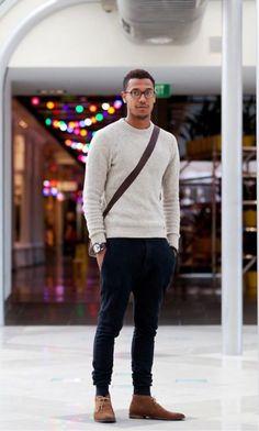 look masculino suéter básico