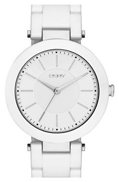 Free shipping and returns on DKNY 'Stanhope' Bracelet Watch 36mm at Nordstrom.com. A neat ring of crystals or smooth ceramic links detail a contemporary bracelet watch that displays three-hand time on a sleek numberless dial.