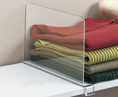 Acrylic Shelf Divider - It seems like the top shelves in my closet are always the messiest ones. These acrylic shelf dividers are perfect to keep clothing and accessories neat and organized at all times.