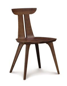 Catalina Estelle Walnut Chair.  Shown in natural American Black Walnut. Part of the Copeland Catalina Dining Collection.