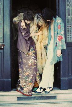 "70rgasm: "" Michele Breton, Anita Pallenberg & Mick Jagger """