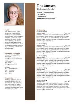 CV sjabloon MS Word Great Resumes, Infographic Resume, Othello, Professional Resume, Templates, Marketing, Words, Creative, Resume Maker Professional