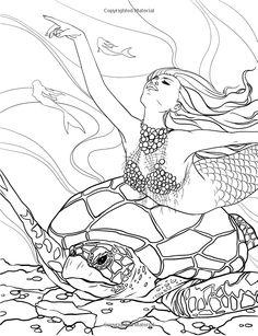Flower Mermaid by Artist Diane S Martin Mermaid Fantasy