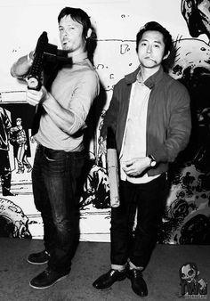 Norman Reedus & Steven Yeun