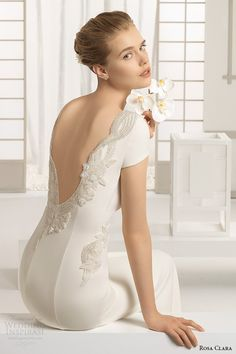 Rosa Clara 2016 Bridal Collection - Belle The Magazine Rosa Clara Bridal, Rosa Clara Wedding Dresses, Lace Wedding Dress, 2016 Wedding Dresses, Backless Wedding, Wedding Suits, Bridal Dresses, One Shoulder Wedding Dress, Wedding Gowns