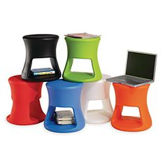 Think I'd like to get a few of these to replace our kickstools.  Demco.com - Offi Side Table