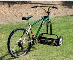 i love the old fashioned mowers, and somehow this makes it even cooler!