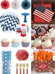 Last Minute Red, White and Blue Party Inspiration for Memorial Day and or 4th of July