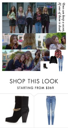 """Outfit #858 Aria Montgomery"" by nmr135 ❤ liked on Polyvore featuring 3.1 Phillip Lim, Frame, Halston Heritage, pll, LucyHale, ariamontgomery and nmr"