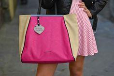 maxi borsa le pandorine - pink