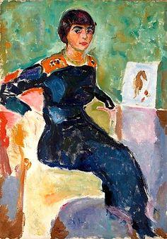 Elsa Glaser by Edvard Munch (Norway)